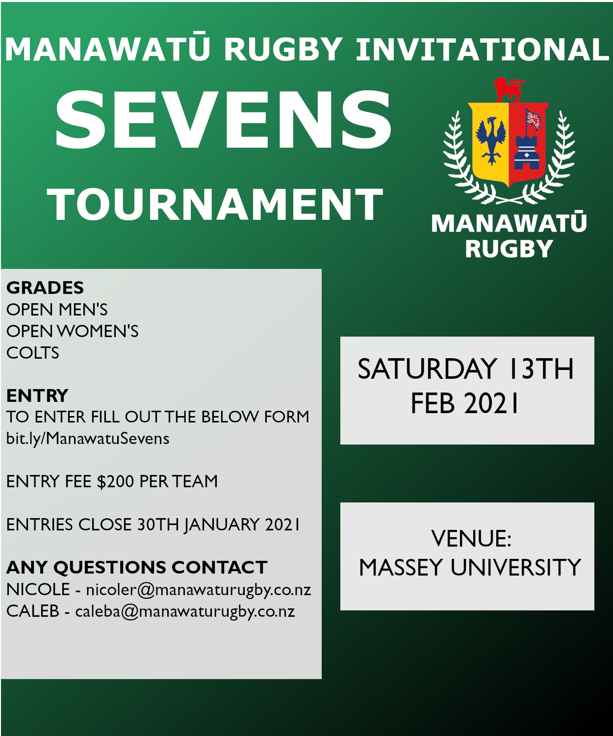 Manawatu Rugby Invitational Sevens Tournament 2021