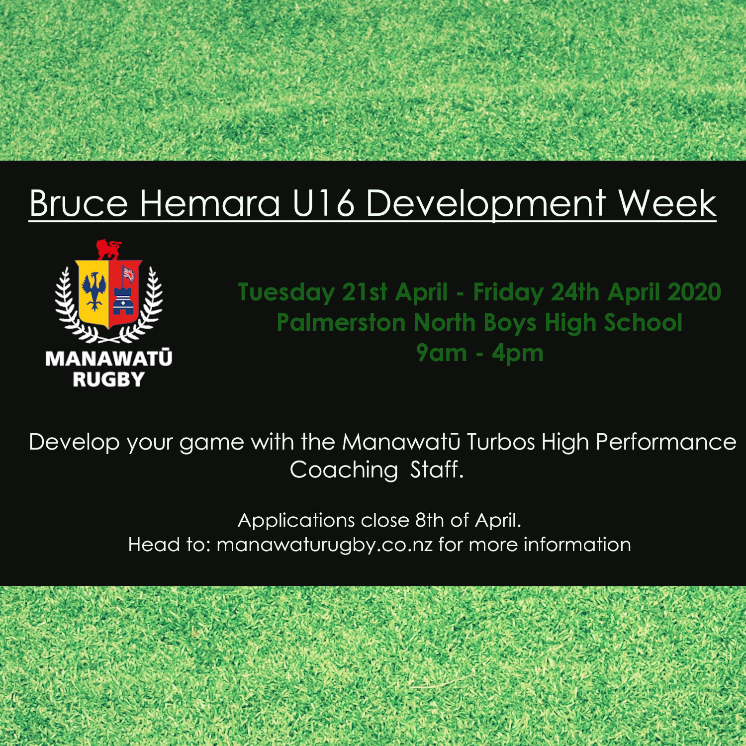 Bruce Hemara Under 16 Development Week